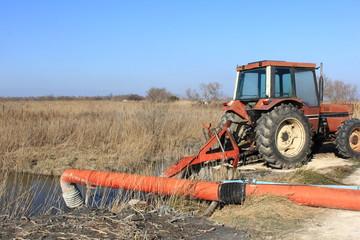 Travail d'irrigation,