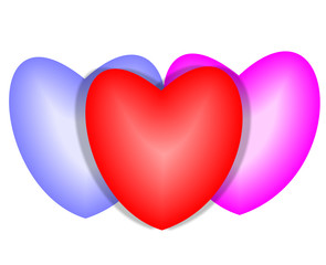 kırmızı kalp tasarımı