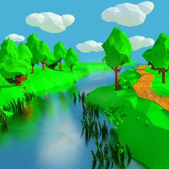 Kleiner Fluss in der Landschaft
