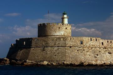 Rhodos Griechenland Hafen Hafeneinfahrt 2