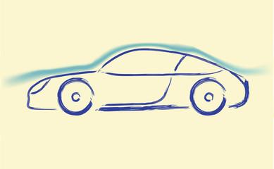 Aerodynamics car sketch