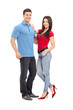 Full length portrait of a casual young couple