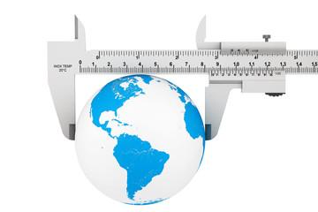 Metal Vernier Caliper with Earth Globe