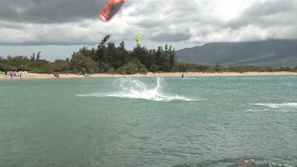 Kite Surfers in Kahului Maui