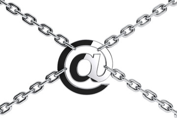 Metal Chain with Email symbol