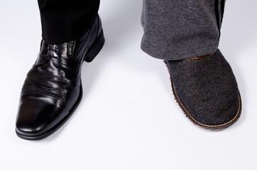 slipper and elegant men's shoe