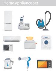 Household appliances vector set