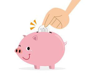 豚の貯金箱 貯金
