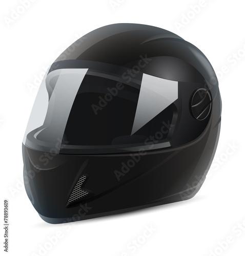 black motorcycle helmet vector