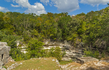 Holy Mayan Cenote in Chichen Itza sight, Mexico