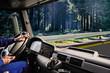 Leinwandbild Motiv truck cockpit