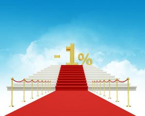 one percent discount