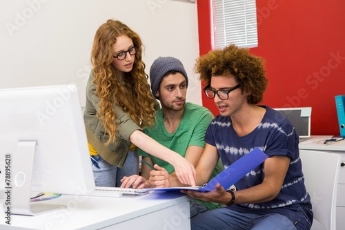 canvas print picture Creative young team in meeting