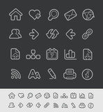 Web Icons -- Black Line Series