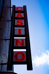 Casino sign.