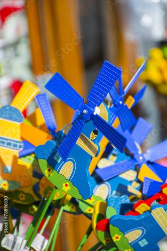 Leinwanddruck Bild Dutch Windmill toy