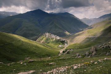 village Xinaliq at Azerbajan mountines Caucasus