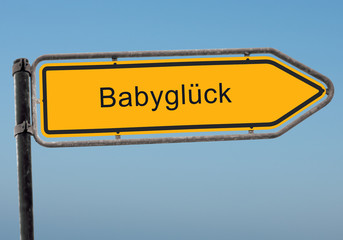 Strassenschild 38 - Babyglück