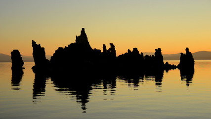 Tufa Formation on Scenic Mono Lake California at Sunrise