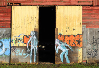 Graffitti on an old, abandoned warehouse in Groningen.