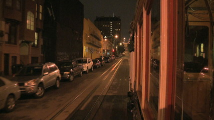 Camera Mounted on Cable Car San Francisco - Clip 2 of 3