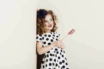 Young girl with candy
