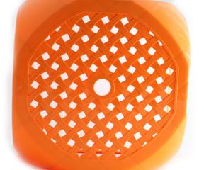 orange plastic mesh