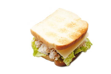Chicken Salad Sandwich with Lettuce & Cheese