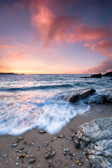 Sunset at Little Fistral Beach