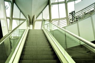 Modern escalator background
