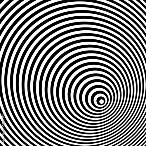 Fototapeta A black and white optical illusion