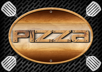 Pizza Wooden Sign