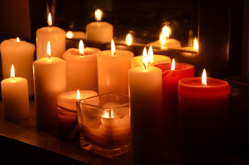 Candles in mirror
