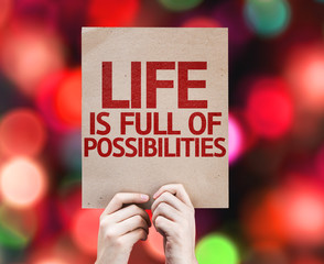 Life is Full Of Possibilities card with colorful background