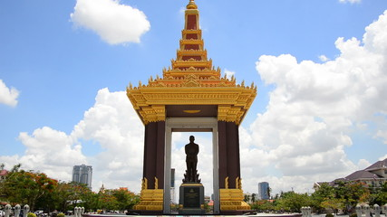 Phnom Penh Cambodia - Statue of the King of Cambodia