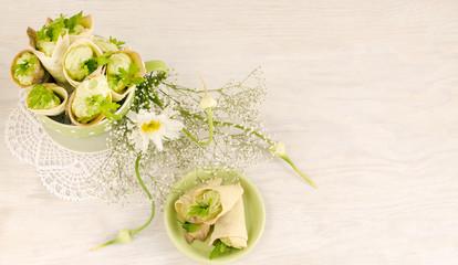 Savory cannoli stuffed