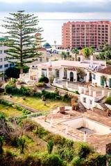 Residential houses near the sea. Benalmadena, Malaga. Spain