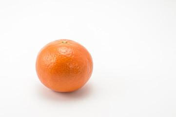 Tangerine left over white background