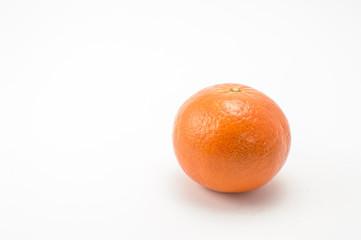 Tangerine right over white background