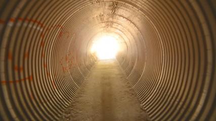 Tunnel Walk Through to White Light