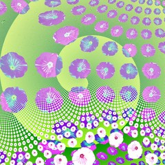 Decorative floral fractal abstract background in pop art style