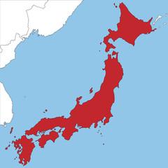 Japan in rot