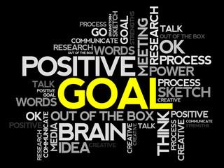 Goal words cloud, business concept