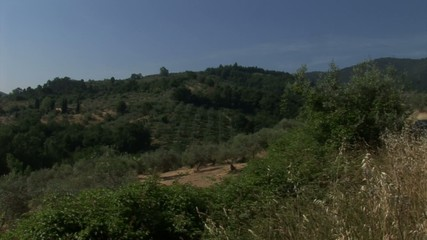 Green Hill in Tuscany country
