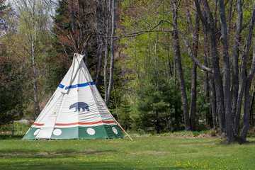 Indian Tepee at Forest Edge