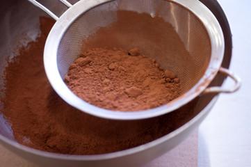 cioccolato amaro in polvere