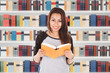Female Student Reading Book