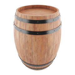 Wine, whiskey, rum, beer, barrel isolated on a white background