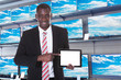 Businessman Pointing At Digital Tablet