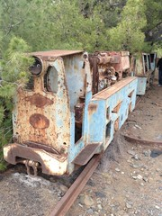 abandoned mining train